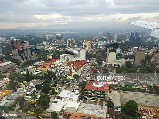 guatemala city from the air - guatemala city stock pictures, royalty-free photos & images