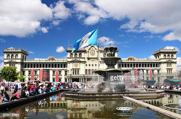guatemala city: the central square - guatemala city stock pictures, royalty-free photos & images