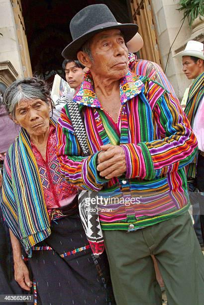 Guatemala, Nahualà, couple of farmer