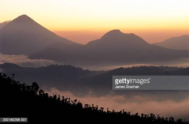 guatemala, quetzaltenango, santa maria volcano - quetzaltenango stock photos and pictures