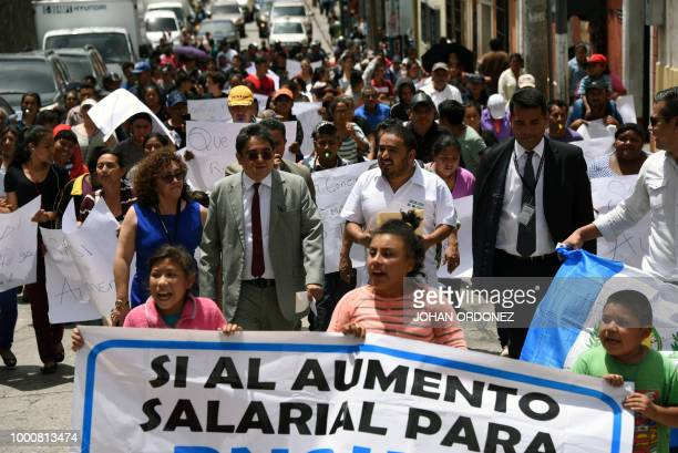 Guatemalan Human Rights attorney Jordan Rodas accompanies the members of the organization 'proud of my PNC' formed by relatives of police officers...