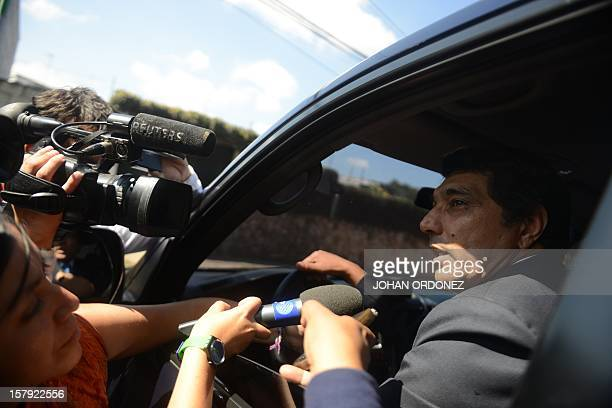 Guatemalan Immigration Director Fredy Viana speaks with journalists December 7 in front of the detention center in Guatemala City Viana said that US...