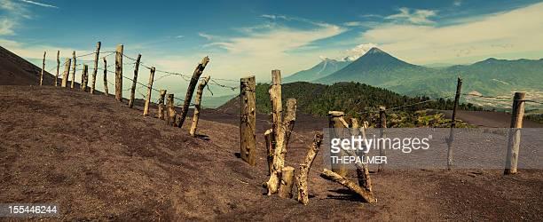 Guatemalteco paisaje con Volcanes