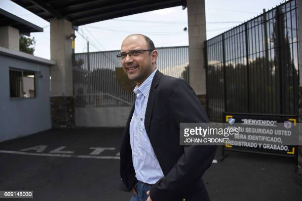 Guatemalan lawyer Rodrigo Sandoval is seen after visiting Javier Duarte former governor of the Mexican state of Veracruz in the Matamoros military...