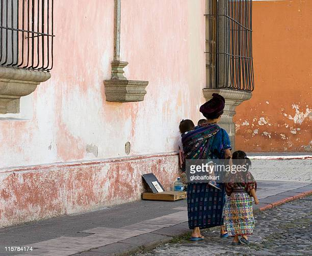 guatemalan mayan family - guatemala stock pictures, royalty-free photos & images