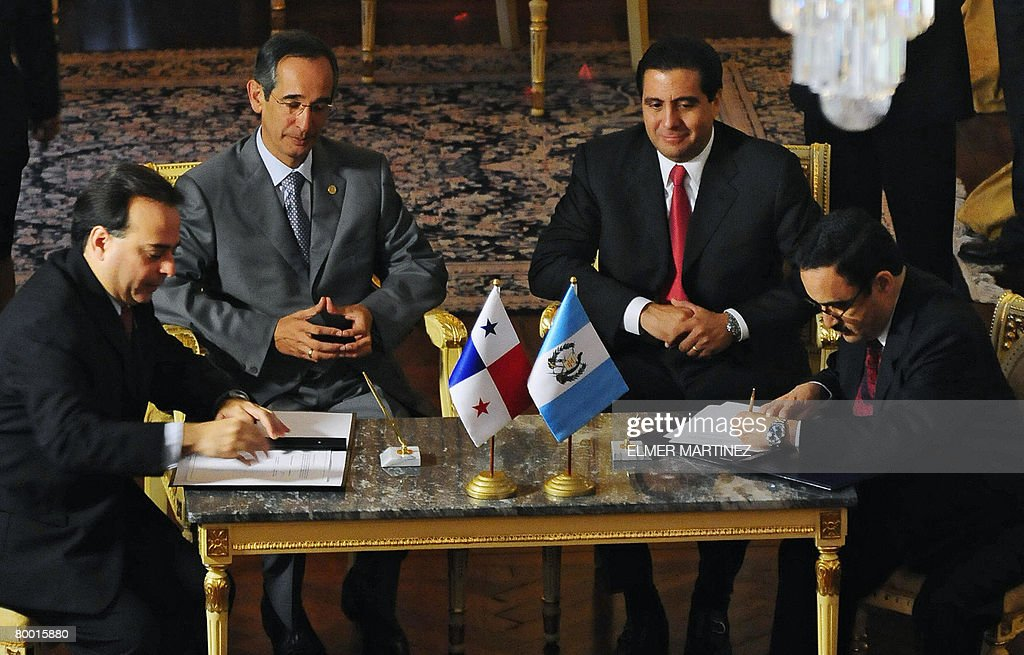 Guatemala And Panama Sign A Free Trade Agreement Photos And Images