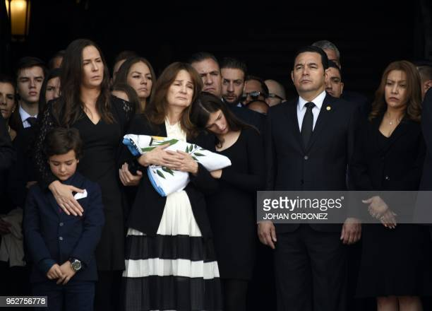 Guatemalan President Jimmy Morales , First Lady Patricia Marroquin and Patricia Escobar , widow of former Guatemalan President and Guatemala City...
