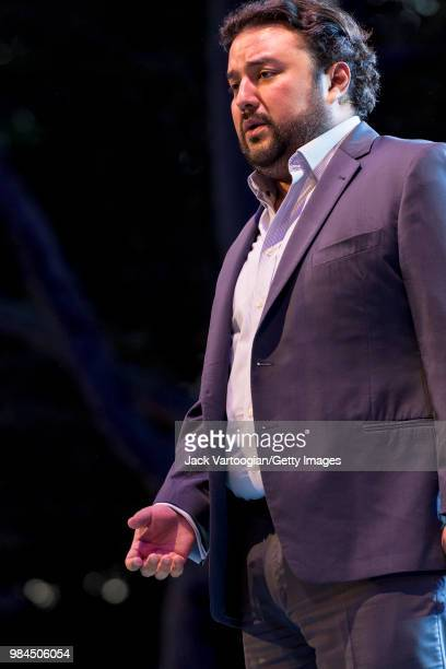 Guatemalan tenor Mario Chang performs at the tenth annual season-opening concert in the Metropolitan Opera Summer Recital Series at Central Park...