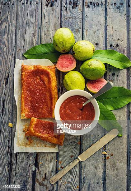 guava puff pastry - guava fruit stock photos and pictures