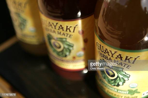 Guayaki Yerba Mate during Silver Spoon Golden Globes Hollywood Buffet Day 1 at Private Residence in Beverly Hills California United States Photo by...