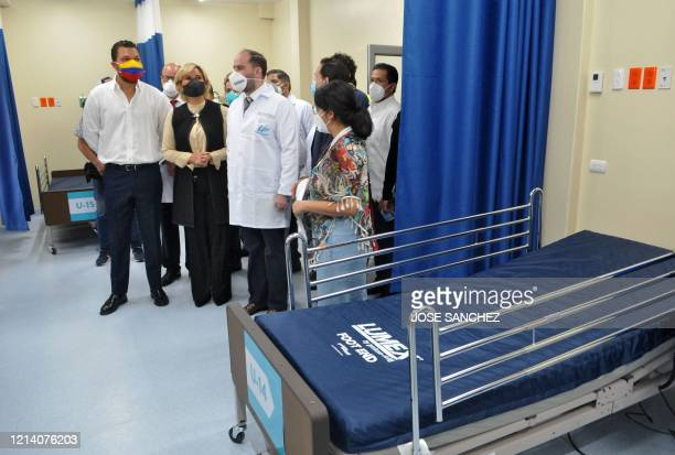 Guayaquil's Mayor Cynthia Viteri and municipal authorities visit the Bicentennial Hospital which works at the exmaternity hospital Enrique Sotomayor...