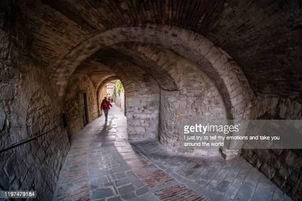gubbio, perugia - umbria, italy - gubbio stock pictures, royalty-free photos & images