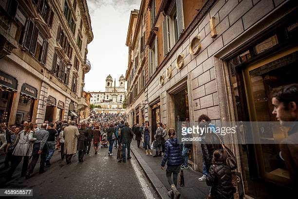 gucci and prada stores in via dei condotti, rome - gucci beauty stock pictures, royalty-free photos & images