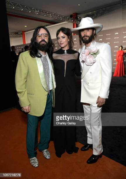 Gucci Creative Director Alessandro Michele actors Dakota Johnson and Jared Leto wearing Gucci attend 2018 LACMA Art Film Gala honoring Catherine Opie...