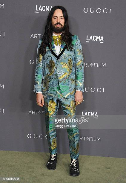 Gucci Creative Director Alessandro Michele arrives at the 2016 LACMA Art + Film Gala Honoring Robert Irwin And Kathryn Bigelow Presented By Gucci at...