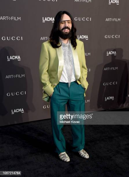 Gucci Creative Director Alessandro Michele attends 2018 LACMA Art Film Gala honoring Catherine Opie and Guillermo del Toro presented by Gucci at...