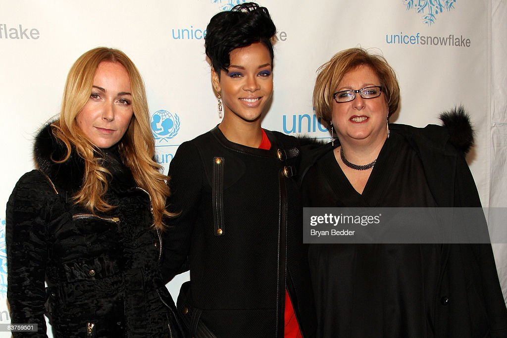 Gucci Creative Director Frida Giannini Singer Rihanna And President Of The U S Fund For Unicef