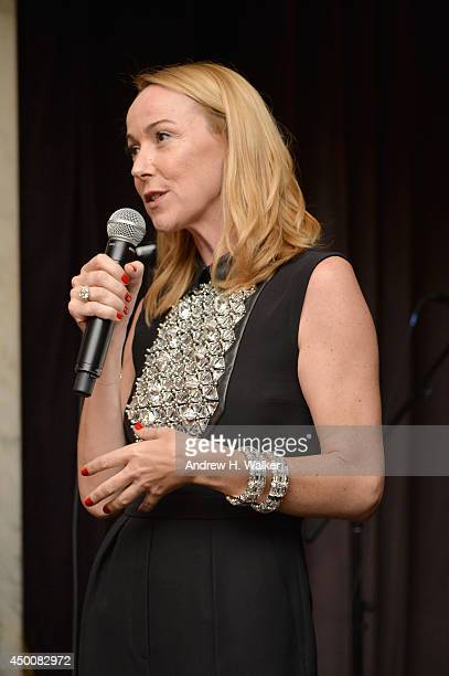 Gucci Creative Director Frida Giannini speaks onstage at the Gucci beauty launch event hosted by Frida Giannini on June 4 2014 in New York City