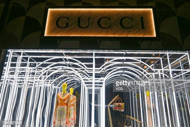 Gucci flagship store is pictured on October 19, 2021 in Beijing, China.