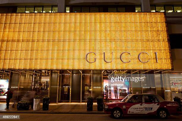 gucci flagship store - gucci beauty stock pictures, royalty-free photos & images