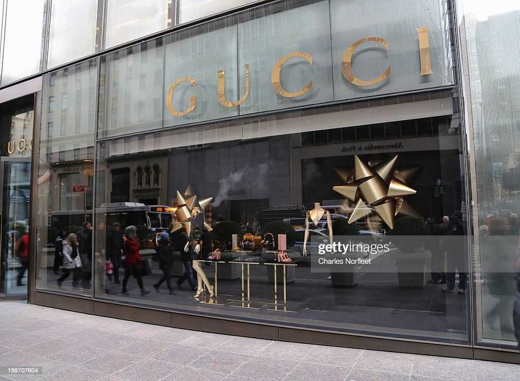 Gucci holiday window display on December 24, 2012 in New York City.