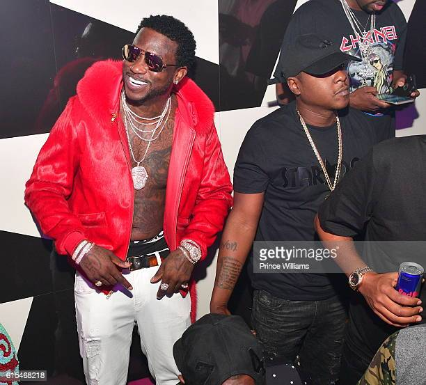 Gucci Mane and Jadakiss attend Gucci Mane 'Woptober album Release Party at Gold Room on October 18 2016 in Atlanta Georgia