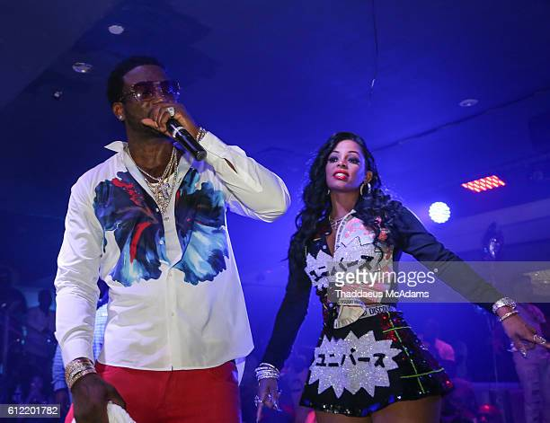 Gucci Mane and Keshia Ka'oir at Cafe Iguana Pines on October 3 2016 in Pembroke Pines Florida
