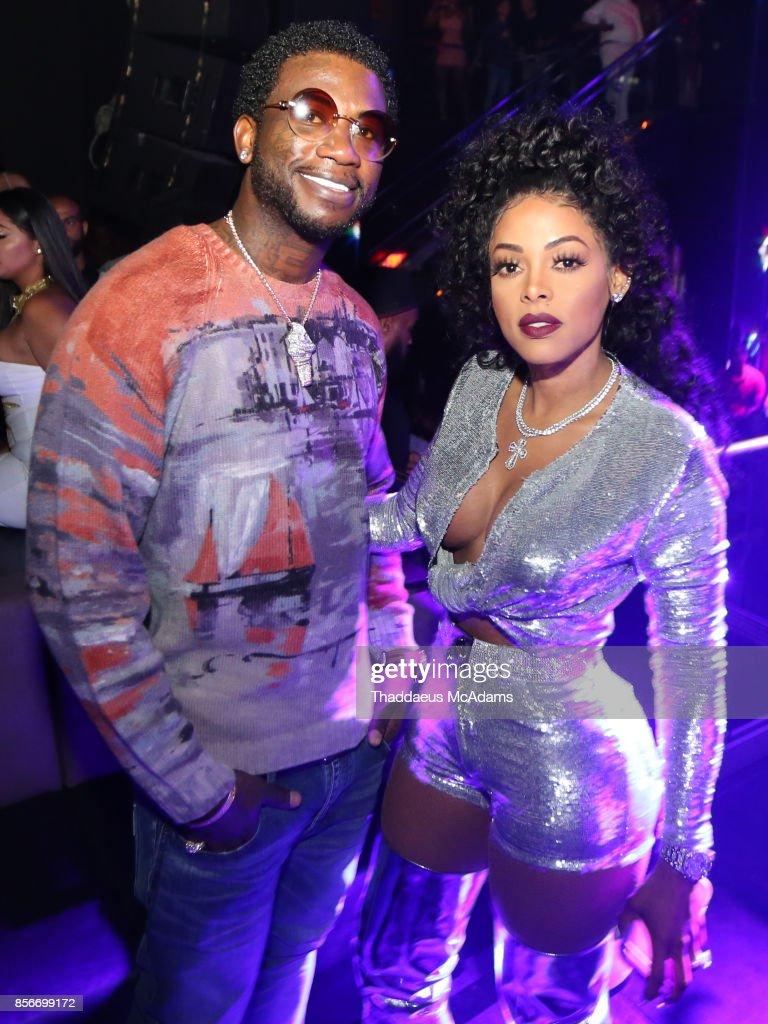 Gucci Mane and Keyshia Kaior at LIV nightclub at Fontainebleau Miami on October 1, 2017 in Miami Beach, Florida.