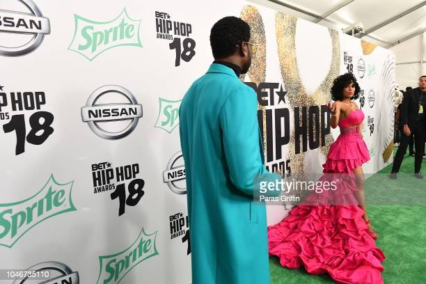Gucci Mane and Keyshia Ka'Oir arrive at the BET Hip Hop Awards 2018 at Fillmore Miami Beach on October 6 2018 in Miami Beach Florida