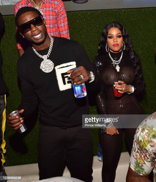Gucci Mand and Keyshia Ka'oir attend a Party at Compound on September 23 2018 in Atlanta Georgia