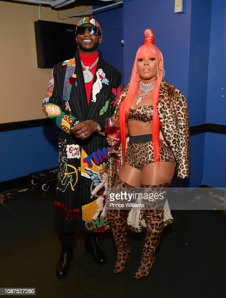 Gucci Mane and Keyshia Kaoir attend Gucci Mane and Friends Holiday Show at Fox Theater on December 27 2018 in Atlanta Georgia