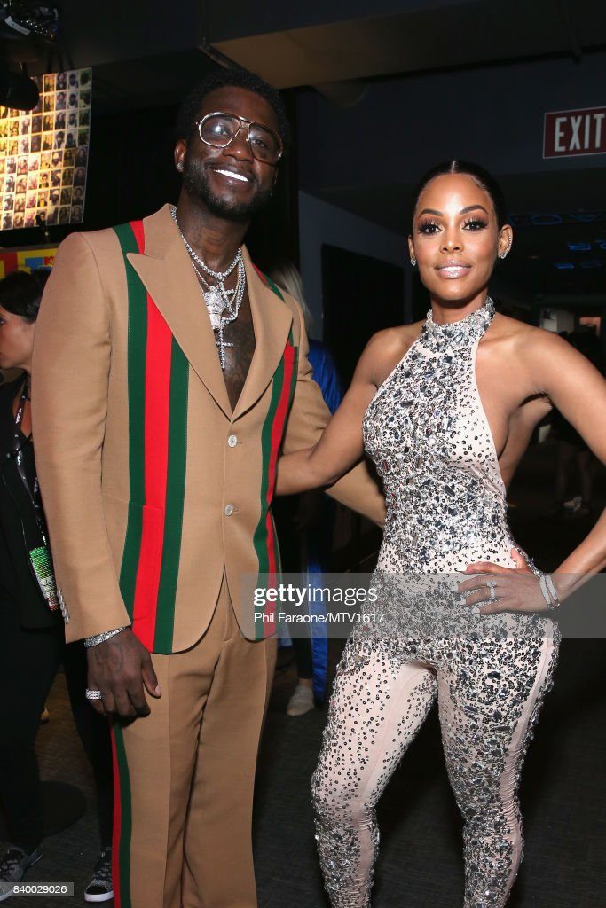 Gucci Mane (L) and Keyshia Ka'Oir attend the 2017 MTV Video Music Awards at The Forum on August 27, 2017 in Inglewood, California.