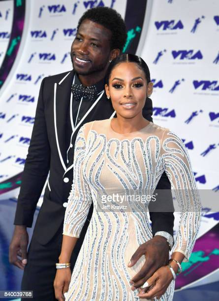 Gucci Mane and Keyshia Ka'Oir attend the 2017 MTV Video Music Awards at The Forum on August 27 2017 in Inglewood California