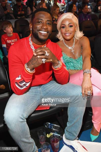 Gucci Mane and Keyshia Ka'Oir attend the 2019 State Farm AllStar Saturday Night at Spectrum Center on February 16 2019 in Charlotte North Carolina