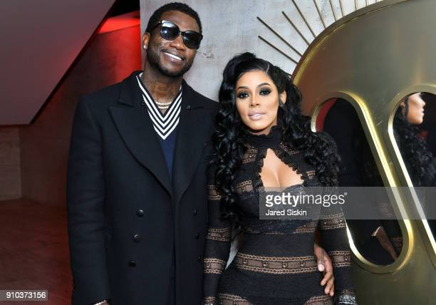 Gucci Mane and Keyshia Ka'Oir attend the Warner Music Group PreGrammy Party in association with V Magazine on January 25 2018 in New York City