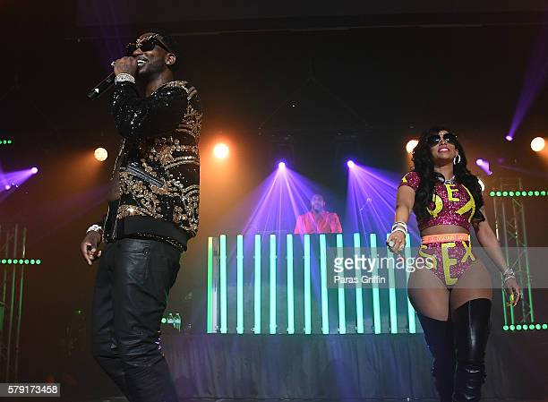 Gucci Mane and Keyshia Ka'oir performs on stage at Gucci and Friends Homecoming Concert at Fox Theatre on July 22 2016 in Atlanta Georgia