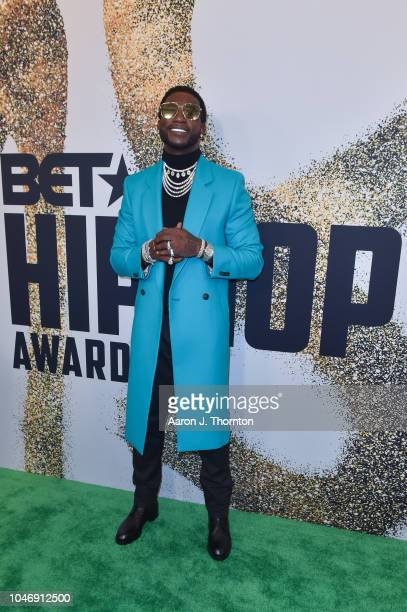 Gucci Mane arrives to the BET Hip Hop Awards at the Fillmore Miami Beach on October 6 2018 in Miami Beach Florida