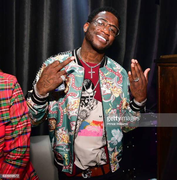 Gucci Mane attends Mike Vick Retirement Party at Grooves on February 4 2017 in Houston Texas