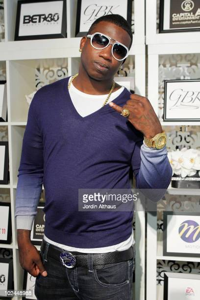 Gucci Mane attends the GBK BET Awards Official Backstage Talent Lounge at The Shrine Auditorium on June 26 2010 in Los Angeles California