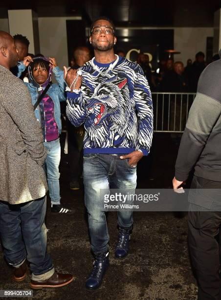 Gucci Mane attends the Gucci Mane El Gato The Human Glacier album release party at Gold Room on December 22 2017 in Atlanta Georgia