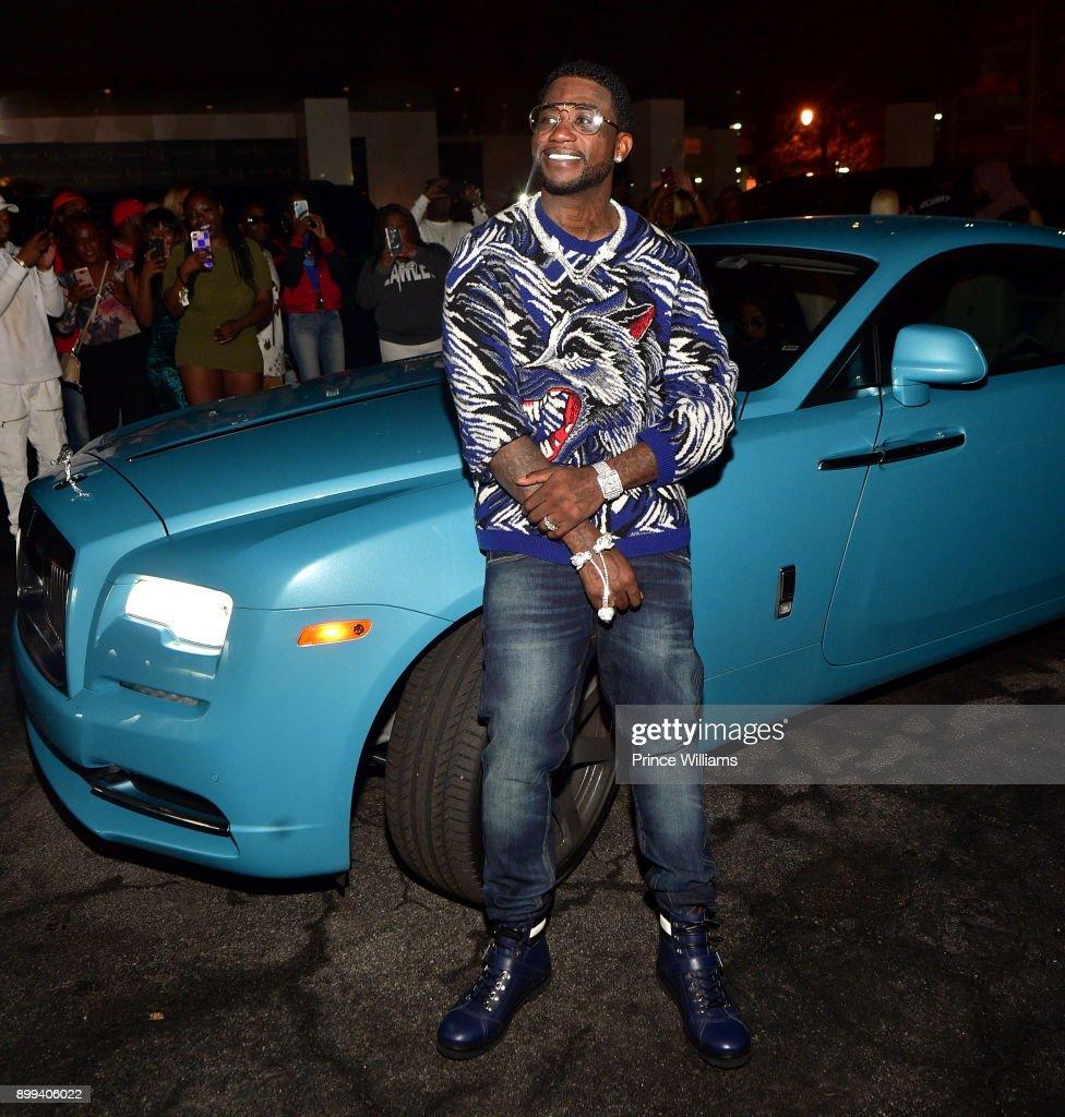 Gucci Mane attends the Gucci Mane 'El Gato The Human Glacier' album release party at Gold Room on December 22, 2017 in Atlanta, Georgia.