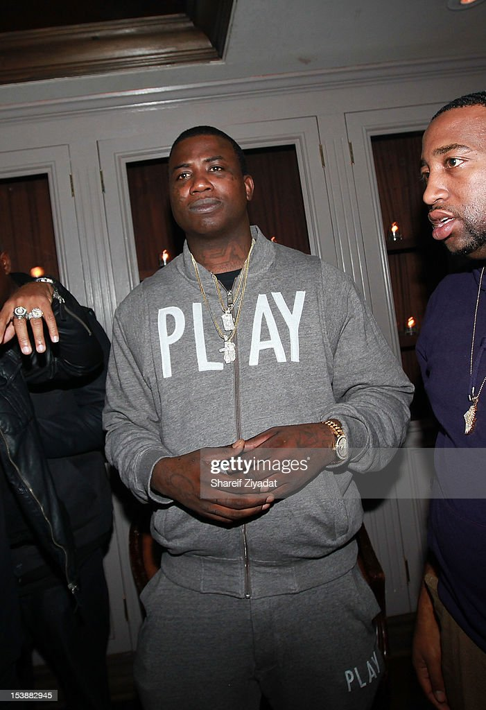 Gucci Mane attends the Machine Gun Kelly Album Release Party at RdV Lounge on October 8, 2012 in New York City.