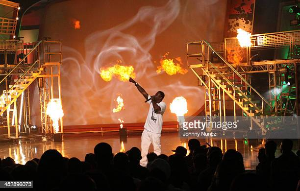 Gucci Mane performs at the BET Hip Hop Awards '09 at the Boisfeuillet Jones Atlanta Civic Center on October 10 2009 in Atlanta Georgia