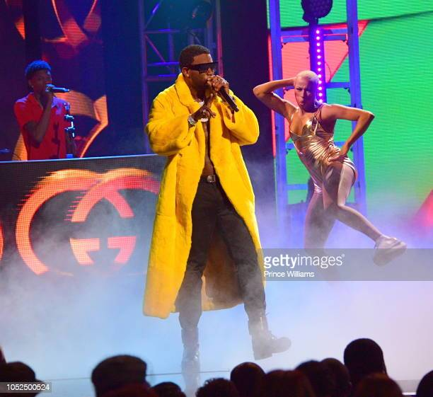 Gucci Mane performs at the BET Hip Hop Awards 2018 at Fillmore Miami Beach on October 6 2018 in Miami Beach Florida