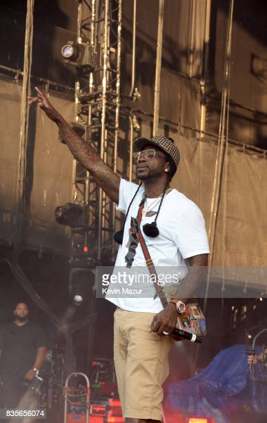Gucci Mane performs during Day One of 2017 Billboard Hot 100 Festival at Northwell Health at Jones Beach Theater on August 19 2017 in Wantagh City