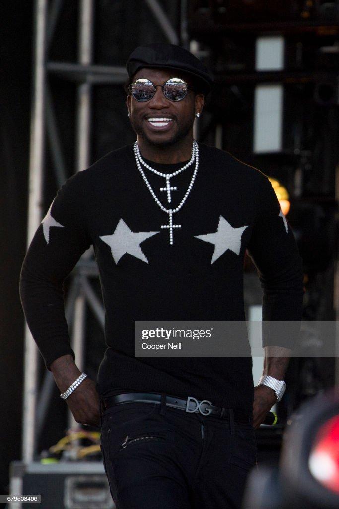 Gucci Mane performs during JMBLYA at Fair Park on May 5, 2017 in Dallas, Texas.