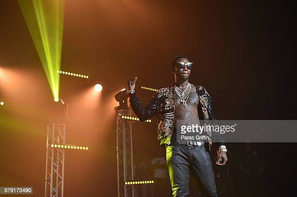 Gucci Mane performs on stage at Gucci and Friends Homecoming Concert at Fox Theatre on July 22 2016 in Atlanta Georgia