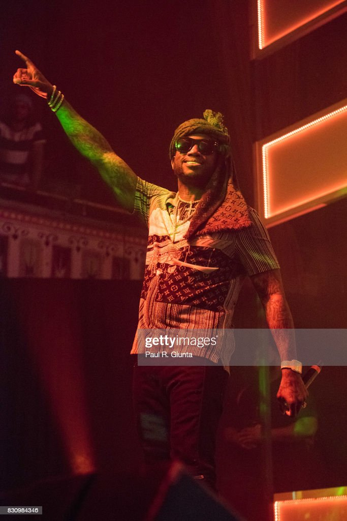 Gucci Mane performs on stage at Spotify's RapCaviar Live at The Tabernacle on August 12, 2017 in Atlanta, Georgia.