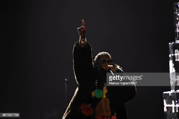 Gucci Mane performs onstage during the 2016 BET Hip Hop Awards at Cobb Energy Performing Arts Center on September 17 2016 in Atlanta Georgia