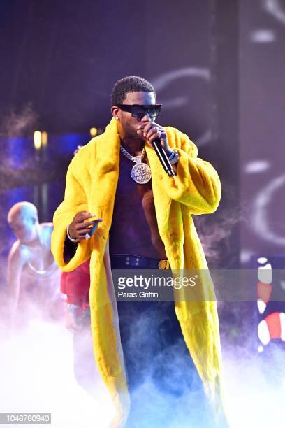 Gucci Mane performs onstage during the BET Hip Hop Awards 2018 at Fillmore Miami Beach on October 6 2018 in Miami Beach Florida